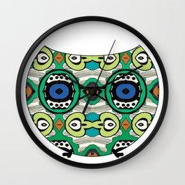 Wise Funky Owl Wall Clock