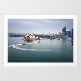 Sydney city center and Harbor, Australia Art Print