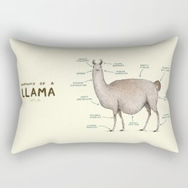 Anatomy of a Llama Rectangular Pillow
