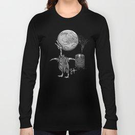 Penguin Zombie -Black and white Long Sleeve T-shirt