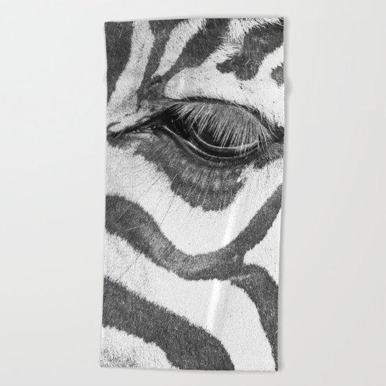 eyes Zebra Beach Towel