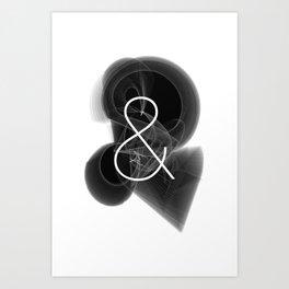 Dark Math. Ampersand (&) Art Print