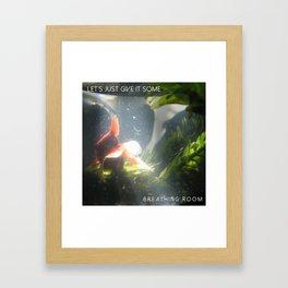breathing room - goldfish Framed Art Print