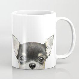 Chihuahua mix color Dog illustration original painting print Coffee Mug