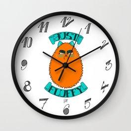 Just Fluffy (Orange) Wall Clock