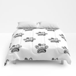 Mandala Dog Foodprint Comforters