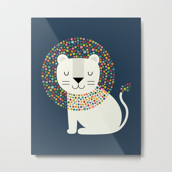 As A Lion Metal Print