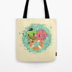 The Pond Lovers - Mr. Froggy and Ms Goldfish Tote Bag