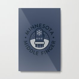 Minnesota Middle Finger Metal Print