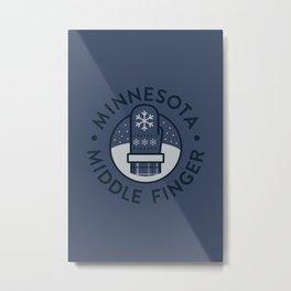 Minnesota Middle Finger Metal Print