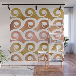 Mixed Metallic Waves Wall Mural