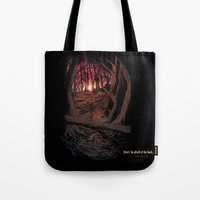 berserk Tote Bags featuring Children In the Wood by TheMagicWarrior