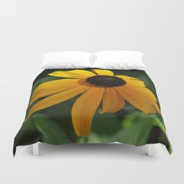 Golden glow of a black-eyed Susan Duvet Cover