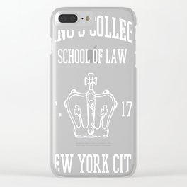 HAMILTON BROADWAY MUSICAL King's College School of Law Est Clear iPhone Case