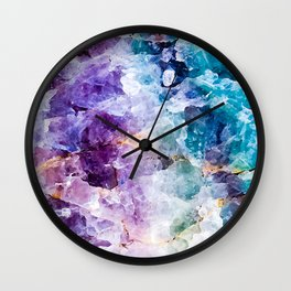 Multicolor quartz texture Wall Clock