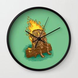 Bad Day Log Wall Clock