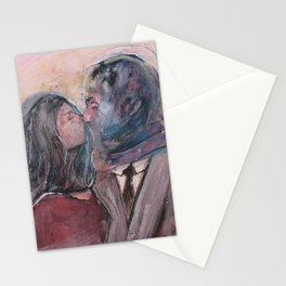 Lovers from Magrite Stationery Cards
