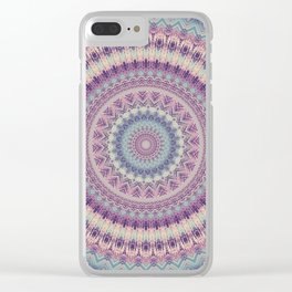 Earth Mandala 4 Clear iPhone Case