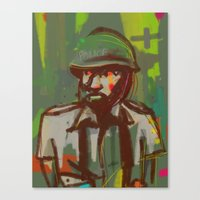 police Canvas Prints featuring Police by Steeze Abiola