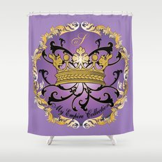 My Empire Collection Summer Set Purple Crown Shower Curtain