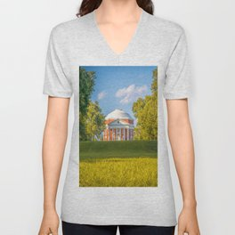 Virginia Charlottesville Lawn Print Unisex V-Neck