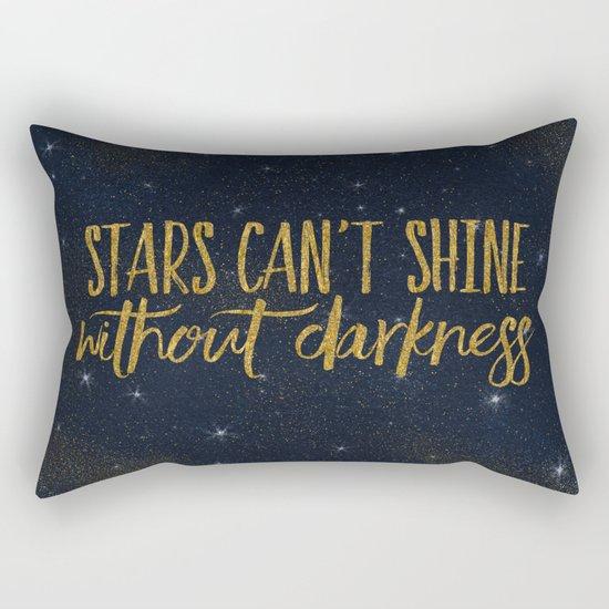 Stars- Darkness - sparkling gold glitter effect night typography 1 on #Society6 Rectangular Pillow