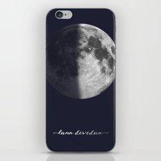 First Quarter Moon on Navy Latin iPhone Skin