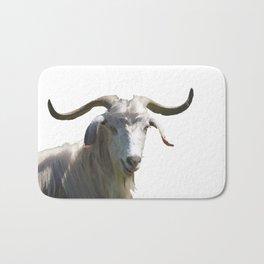 Portrait of a Horned Goat Grazing Vector Bath Mat