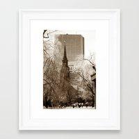 boston Framed Art Prints featuring Boston by Raymond Earley