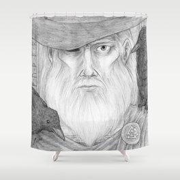 Odin Allfather Shower Curtain