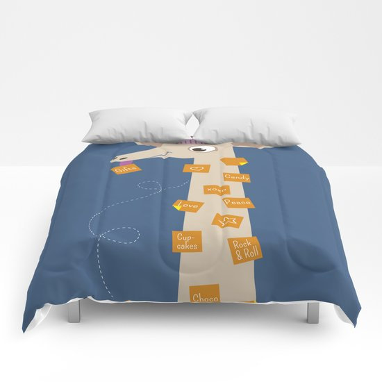 Note Giraffe Comforters