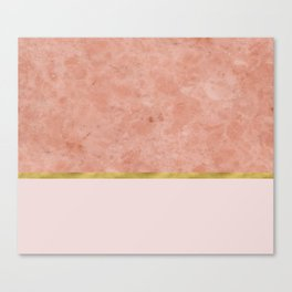 Ettore rosa on blush pink & gold Canvas Print