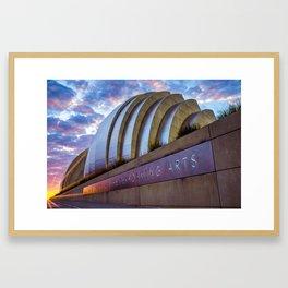 Kauffman Center Sunrise - Downtown Kansas City Framed Art Print