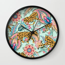 May The Jungle Be With You #pattern #illustration Wall Clock