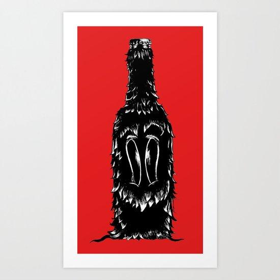 DOG BOTTLE Art Print