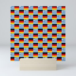 Mix of flag : Germany and greece Mini Art Print