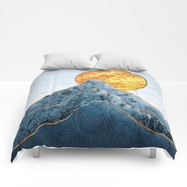 Sunset in the Volcanic Mountains Comforters