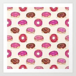 Homemade Doughnuts  Art Print