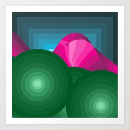The Hills Are Breathin' Art Print