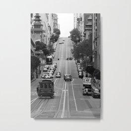 California St. Trolley  Metal Print