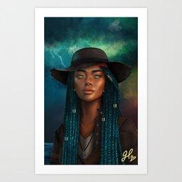 Storm Mistress Art Print