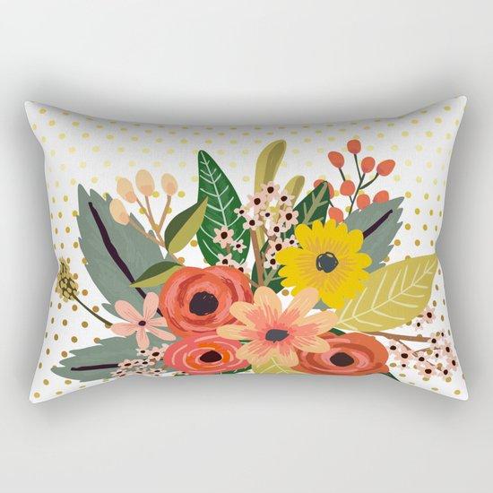 Flowers bouquet #1 Rectangular Pillow