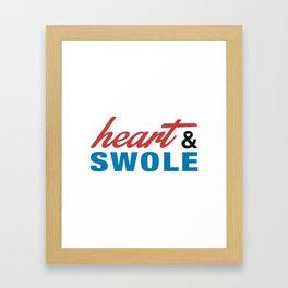 Heart & Swole Framed Art Print