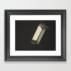 The infinite melancholy of the lonely window. Framed Art Print
