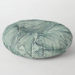 The Sailor's Sea Floor Pillow