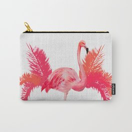 Pink Flamingo Illustration Carry-All Pouch