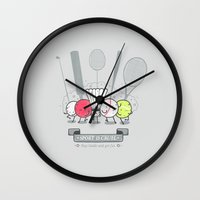 sport Wall Clocks featuring Sport is cruel by Randyotter
