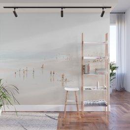 At the Beach (five) - minimal beach series by Ingrid Beddoes Wall Mural