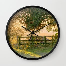 Winter Sun On The Shed Wall Clock