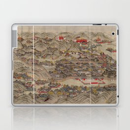 Panoramic view of the Rehe Imperial Palace between 1875-1900 [Rehe xing gong quan tu] Laptop & iPad Skin